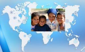 World map NGOs serving children